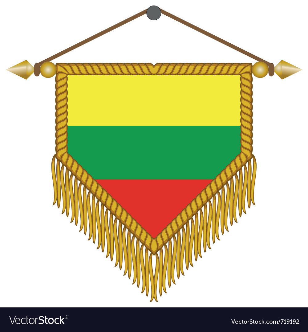 Pennant with the flag of lithuania vector | Price: 1 Credit (USD $1)