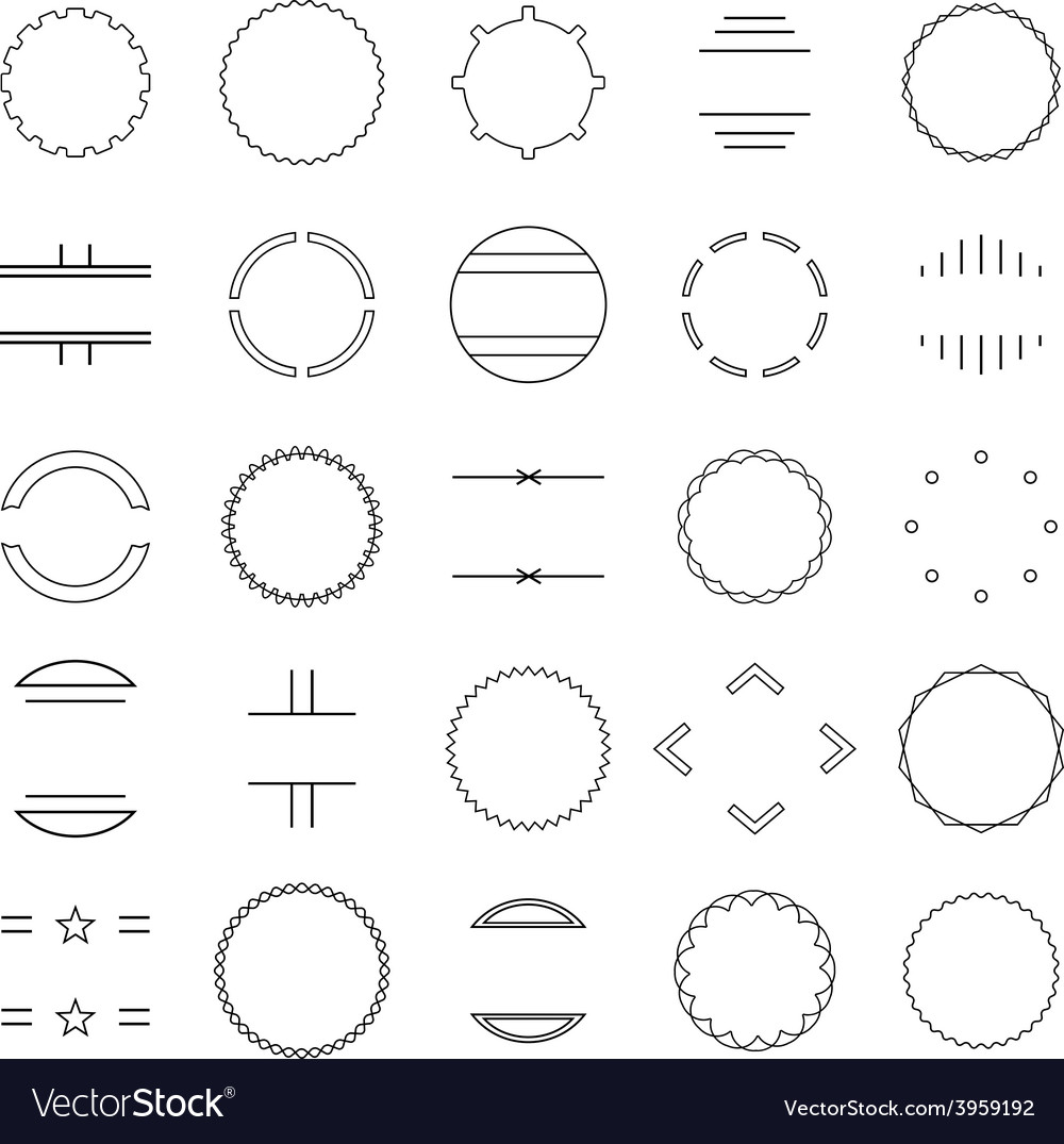 Set of elements vector | Price: 1 Credit (USD $1)