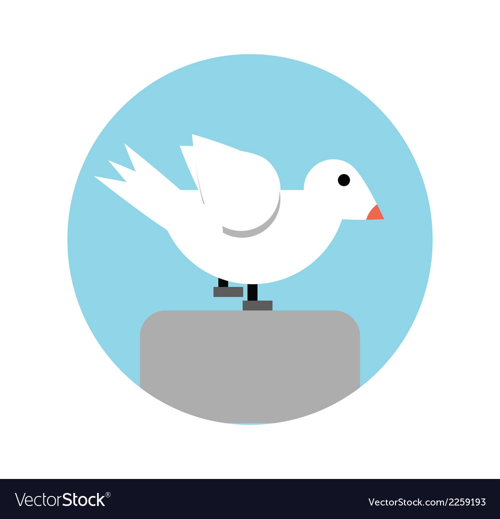 Abstract seagull vector | Price: 1 Credit (USD $1)