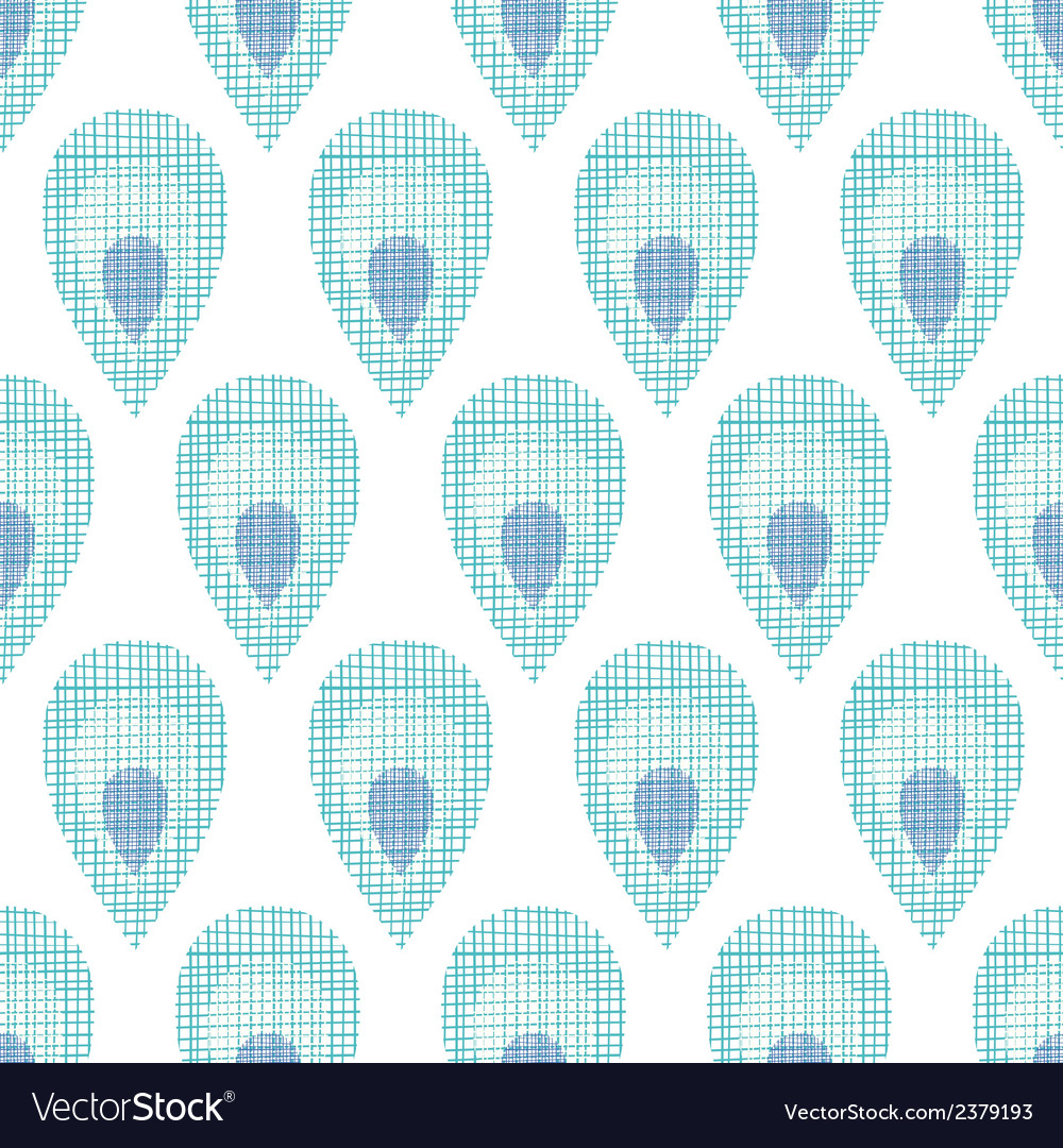 Abstract textile peacock feathers seamless pattern vector | Price: 1 Credit (USD $1)