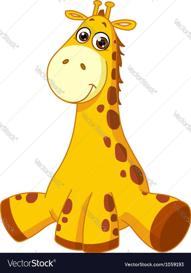 Baby giraffe vector | Price: 1 Credit (USD $1)