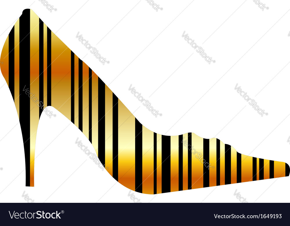 Graphical bar code shoe vector | Price: 1 Credit (USD $1)