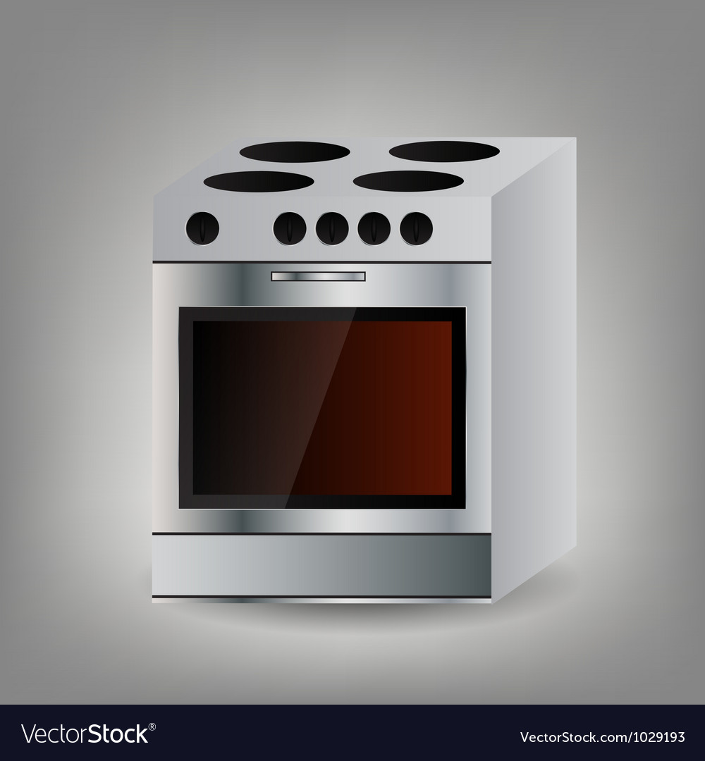 Kitchen oven icon vector | Price: 1 Credit (USD $1)