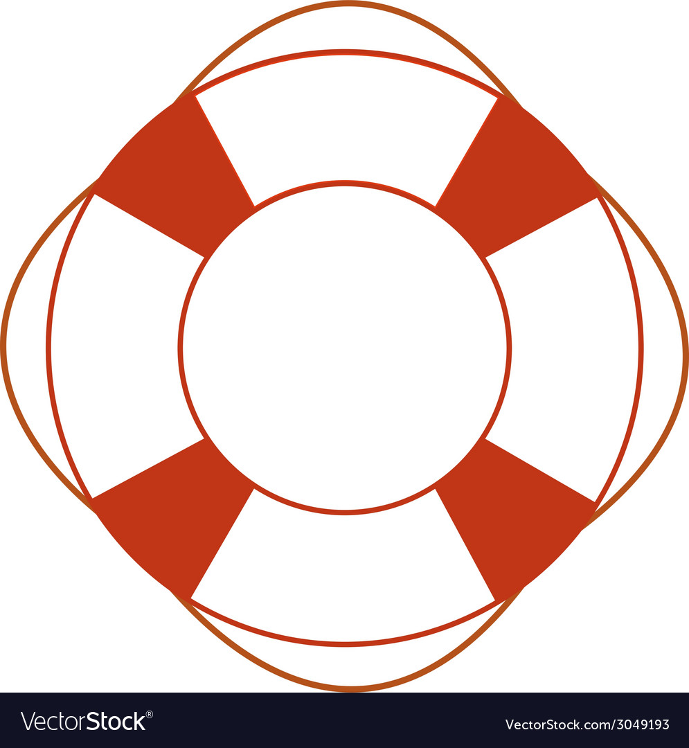 Orange safety ring vector | Price: 1 Credit (USD $1)