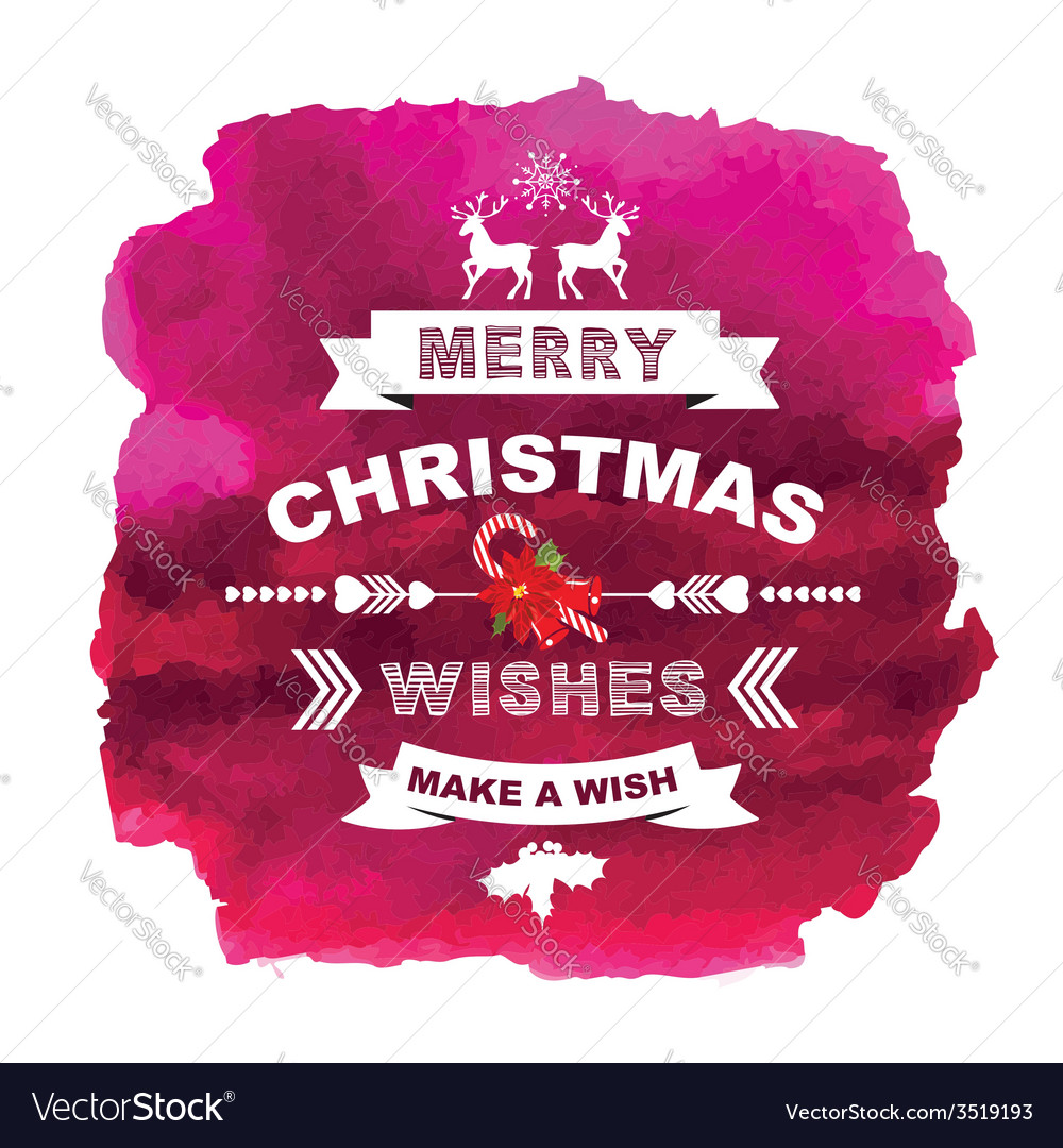 Poster merry christmas vector | Price: 1 Credit (USD $1)