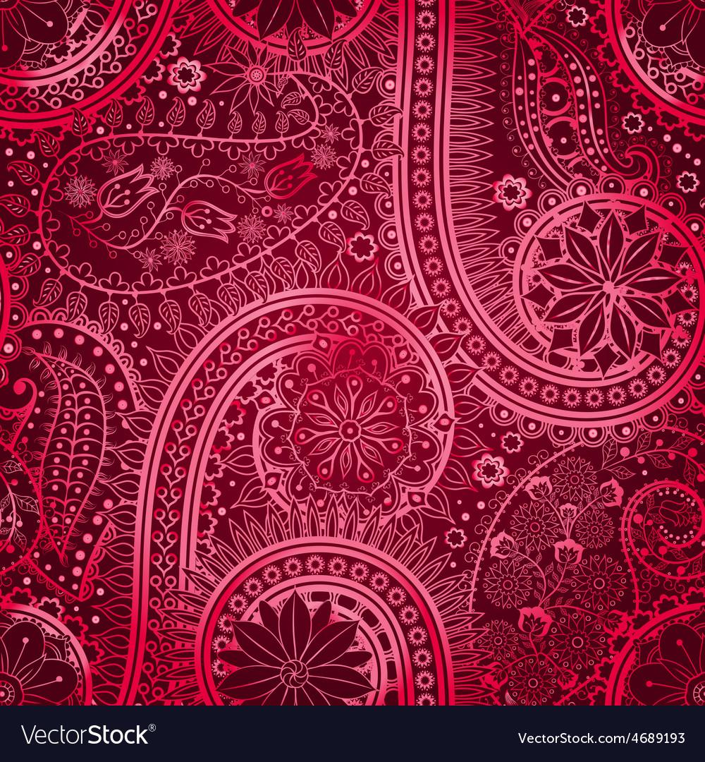 Vintage floral motif ethnic seamless background vector | Price: 1 Credit (USD $1)