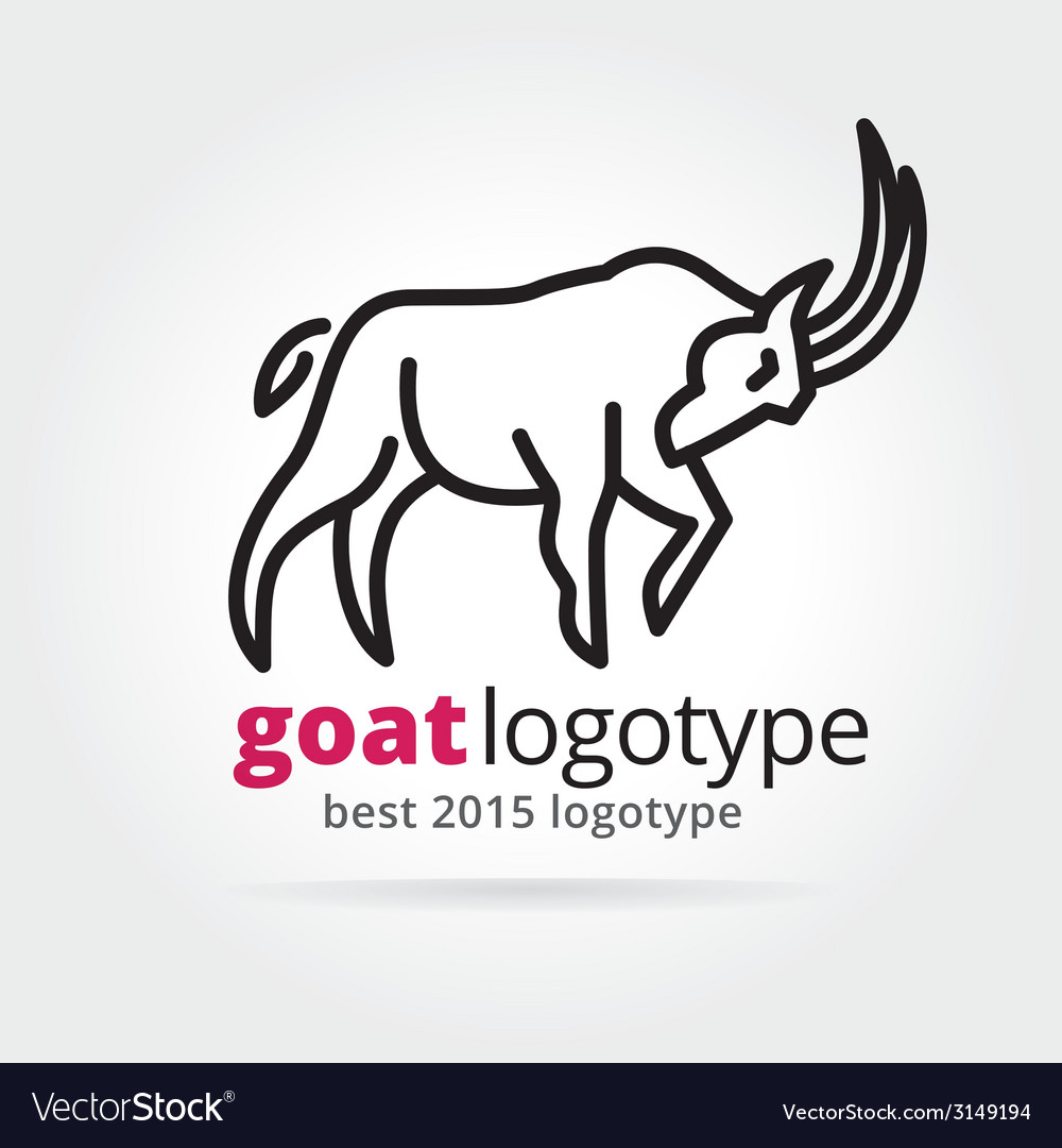 2015 goat logotype isolated on white background vector | Price: 1 Credit (USD $1)
