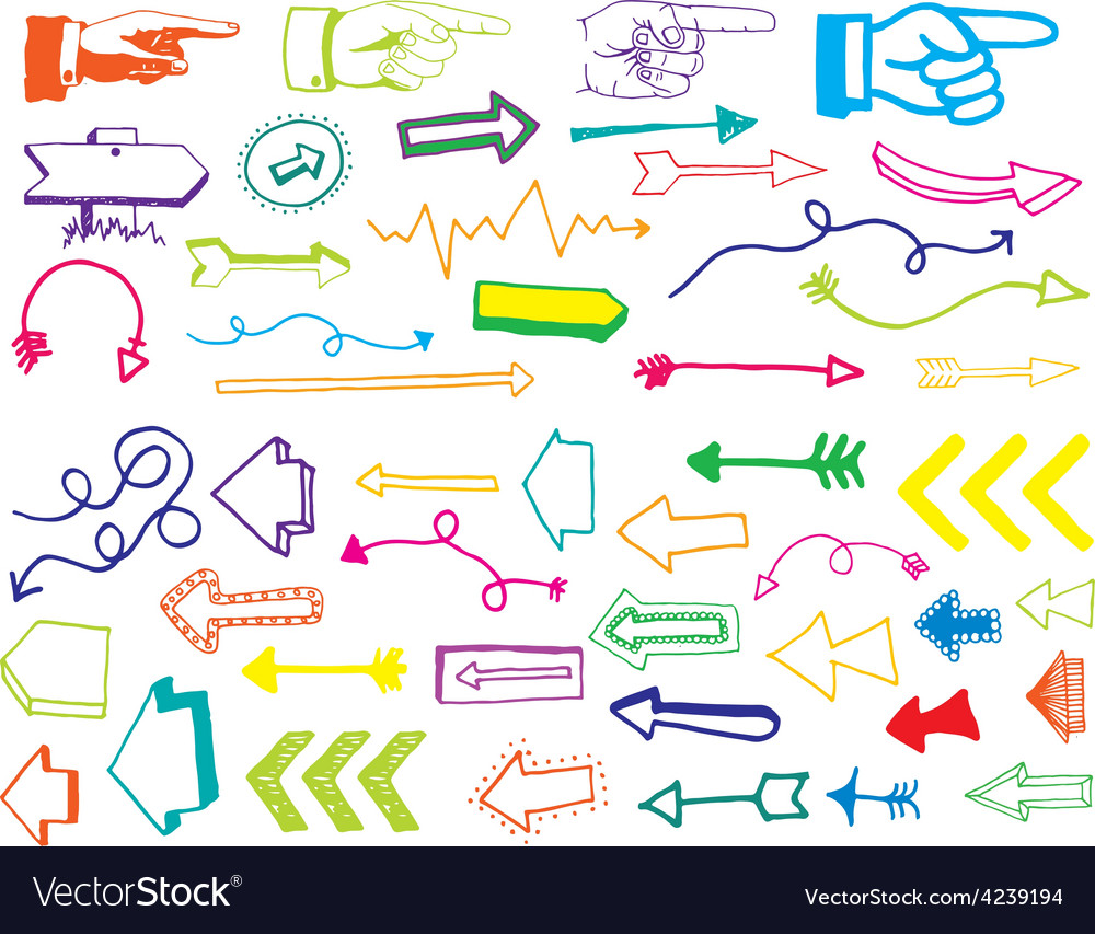 Arrow and pointer doodle vector | Price: 1 Credit (USD $1)