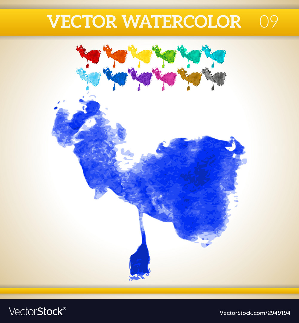 Indigo watercolor artistic splash for design and vector | Price: 1 Credit (USD $1)