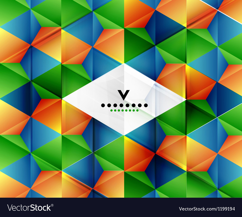 Modern geometric abstract background template vector | Price: 1 Credit (USD $1)