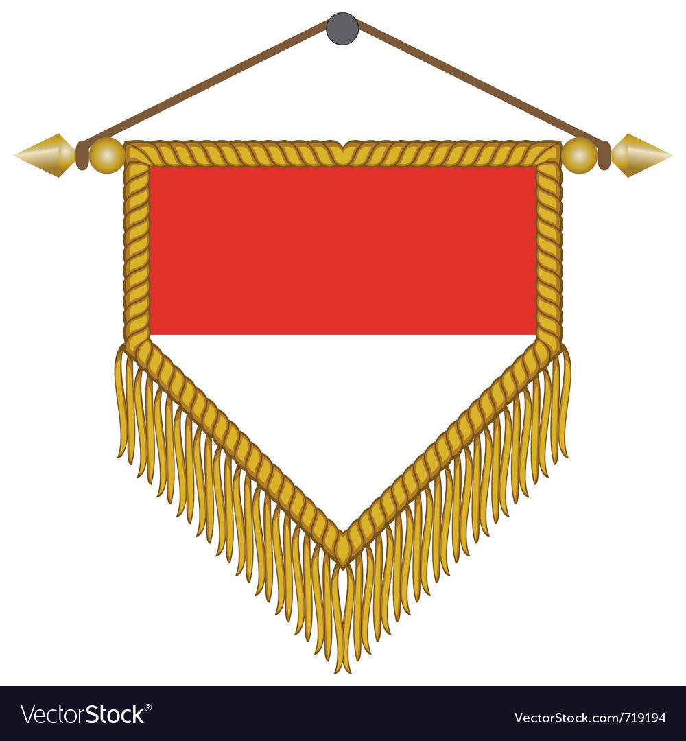 Pennant with the flag of monaco vector | Price: 1 Credit (USD $1)