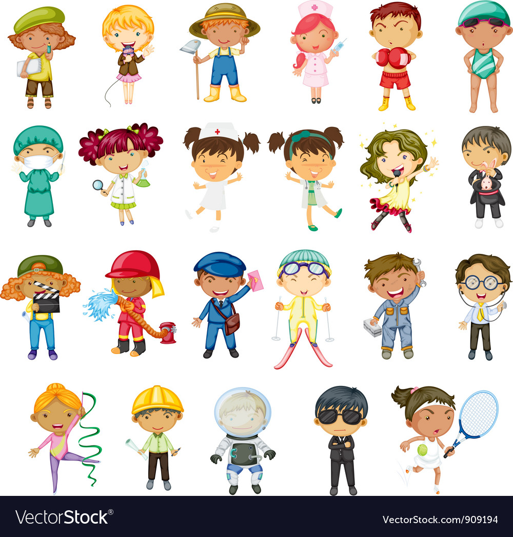 Professions vector | Price: 3 Credit (USD $3)