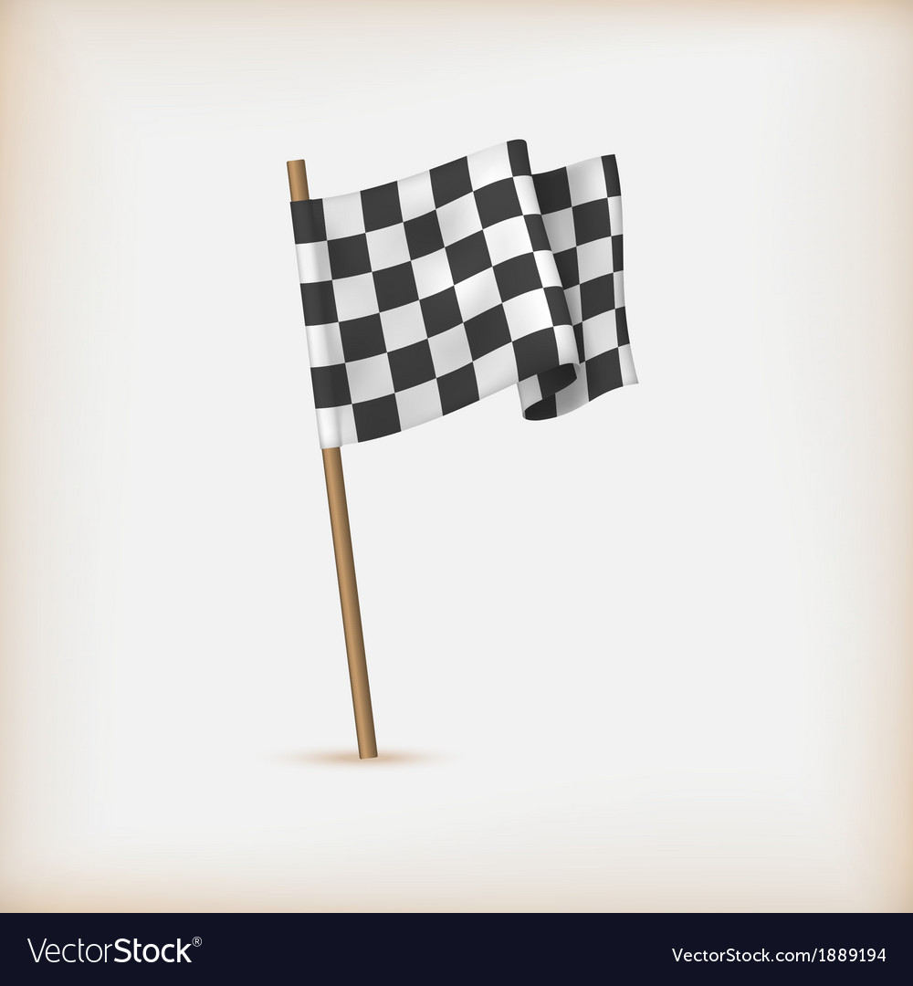 Realistic checkered racing flag vector | Price: 1 Credit (USD $1)