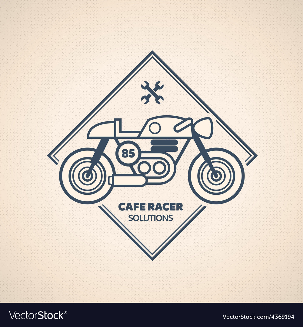 Vintage motorbike label vector | Price: 1 Credit (USD $1)
