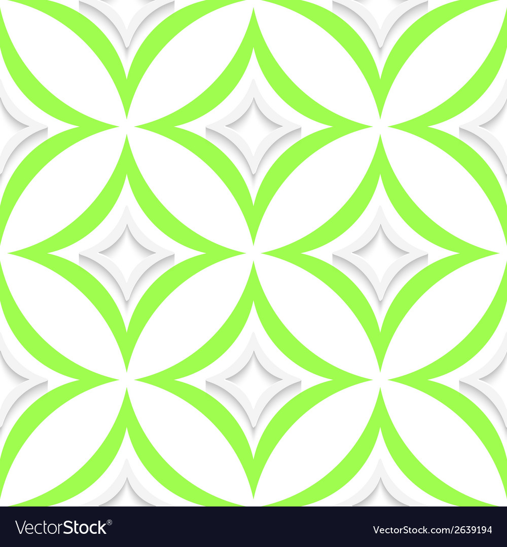White and green pointy rhombuses seamless vector | Price: 1 Credit (USD $1)