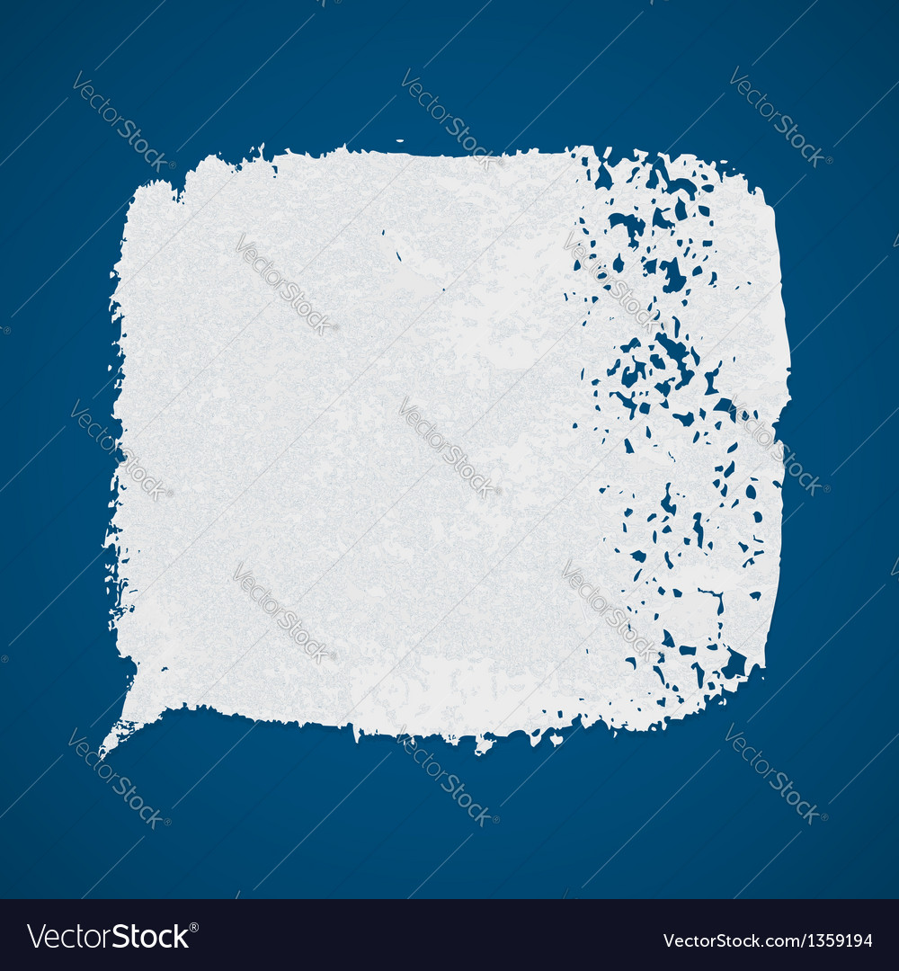 White grunge paint spot on blue background vector | Price: 1 Credit (USD $1)