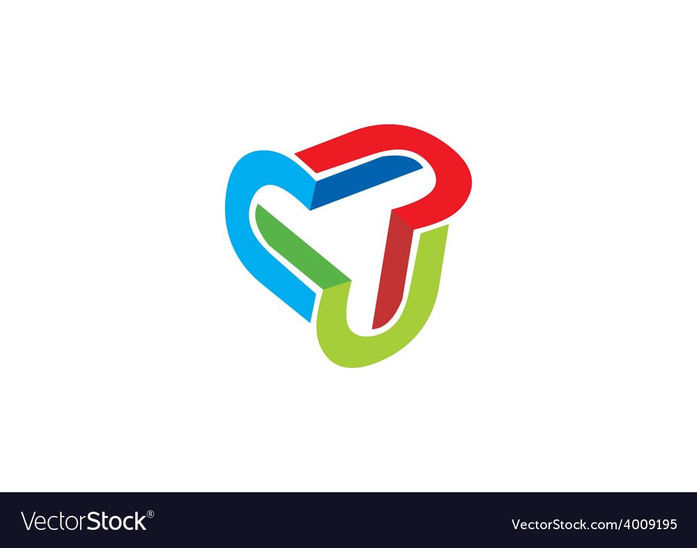 3d circle shape abstract logo vector | Price: 1 Credit (USD $1)