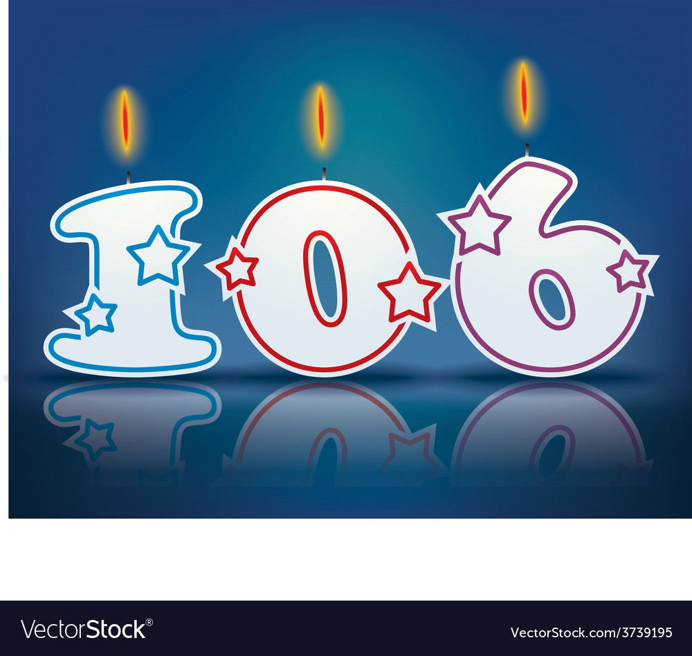 Birthday candle number 106 vector | Price: 1 Credit (USD $1)