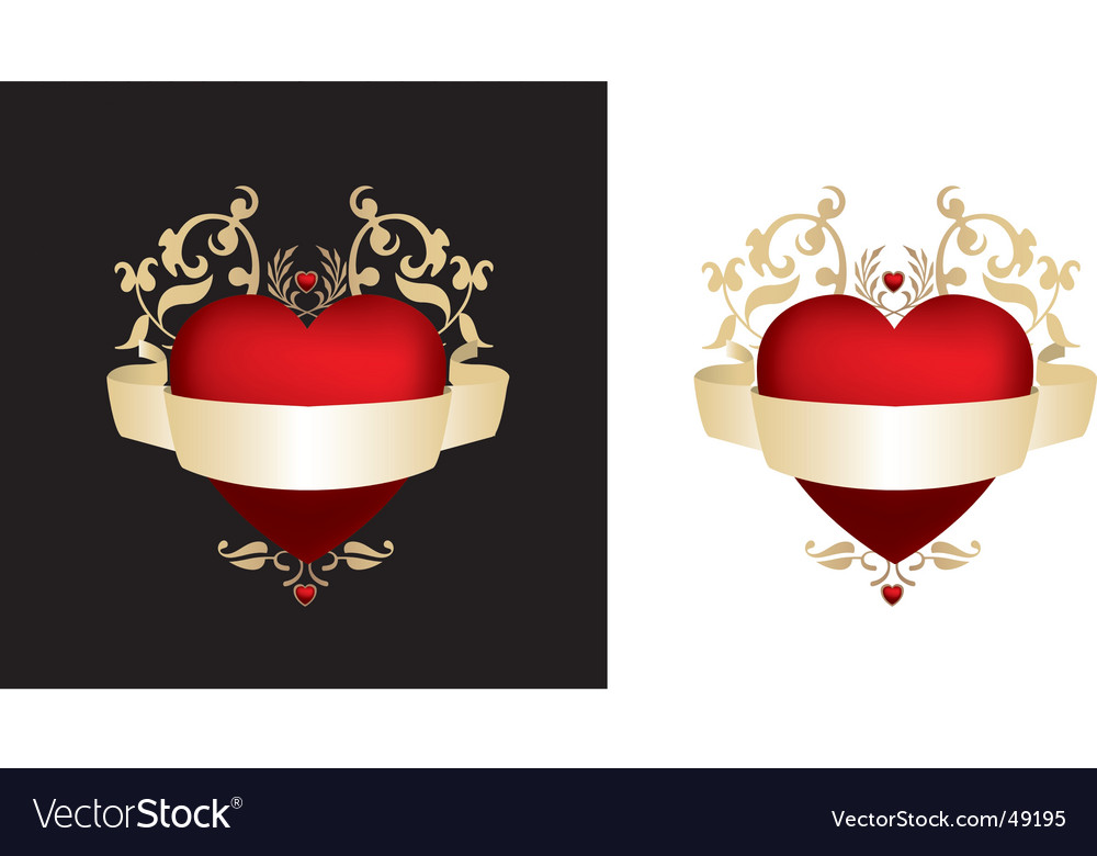 Black and gold heart vector | Price: 1 Credit (USD $1)