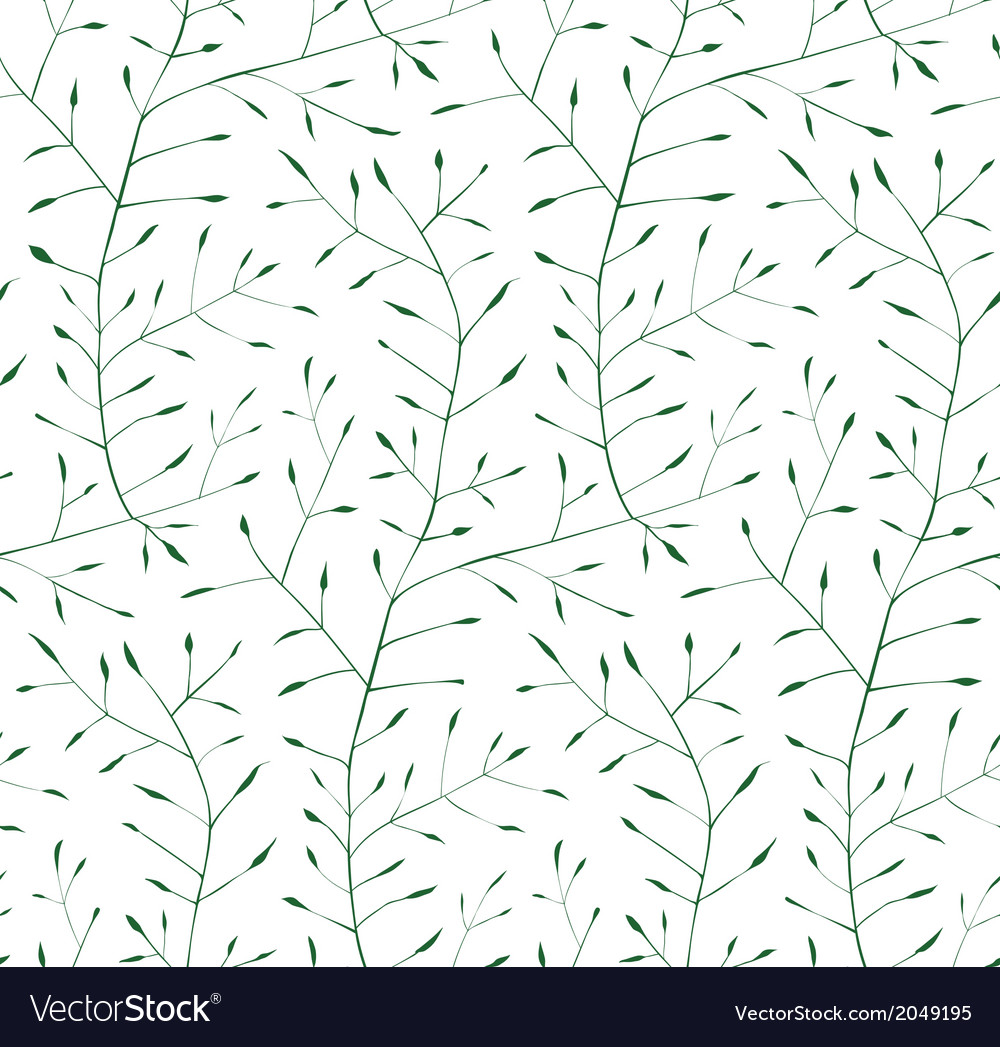 Fine floral ornament seamless pattern background vector | Price: 1 Credit (USD $1)