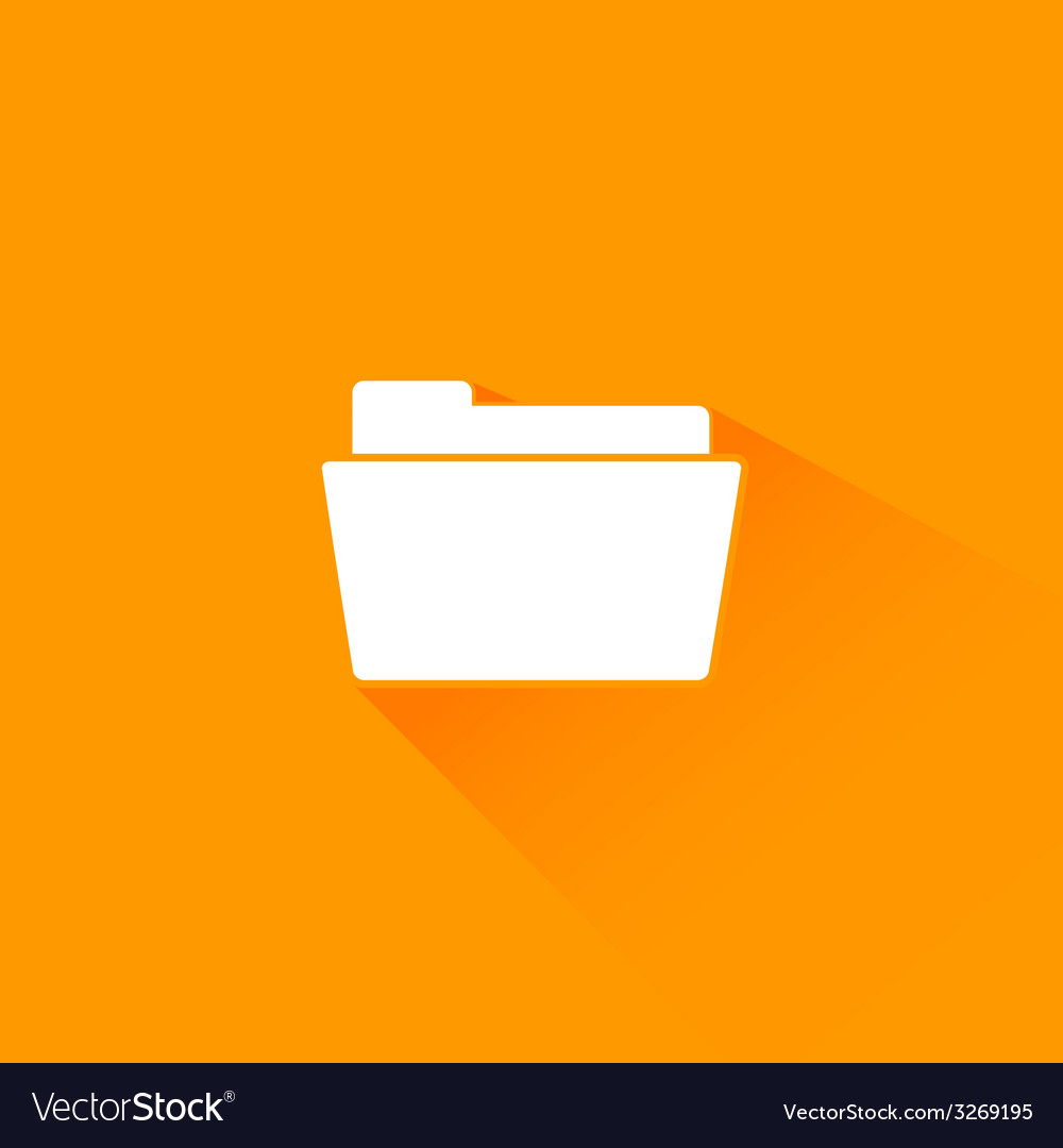 Flat long shadow folder icon vector | Price: 1 Credit (USD $1)