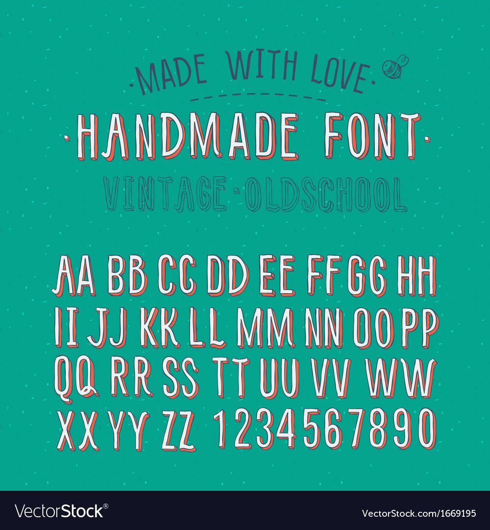 Handmade retro alphabet vector | Price: 1 Credit (USD $1)