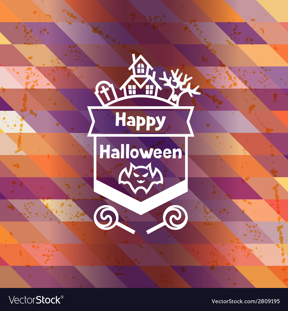 Happy halloween greeting card with badges ang vector | Price: 1 Credit (USD $1)