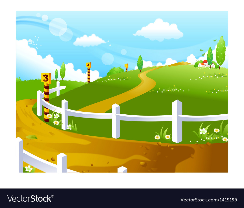 Idyllic landscape background vector | Price: 1 Credit (USD $1)