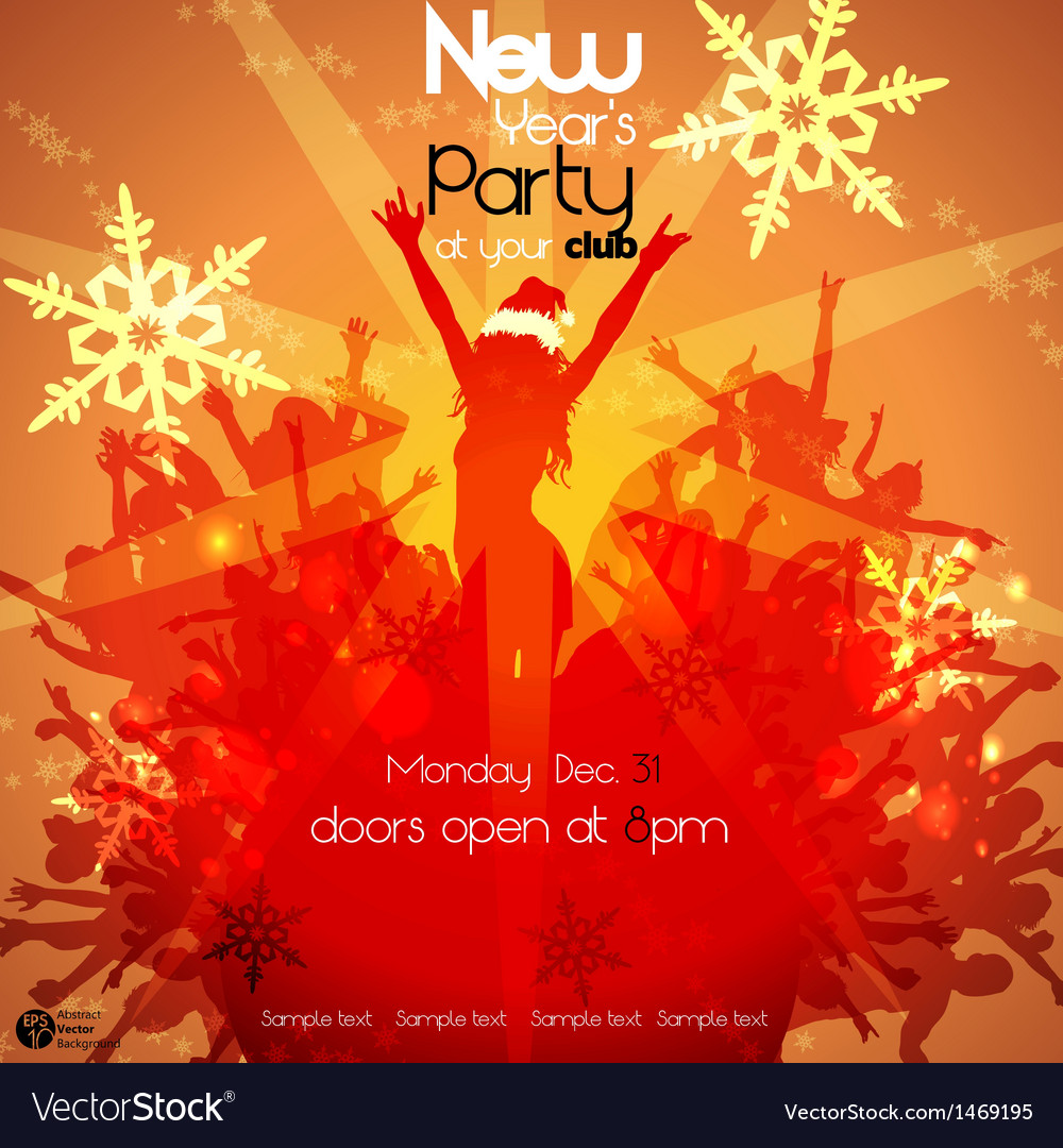 New years party vector | Price: 1 Credit (USD $1)