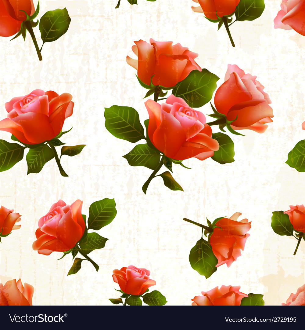 Pattern rose flower old vector | Price: 1 Credit (USD $1)