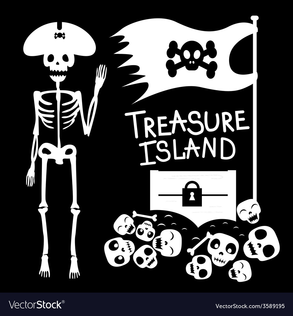 Pirate and treasures vector | Price: 1 Credit (USD $1)