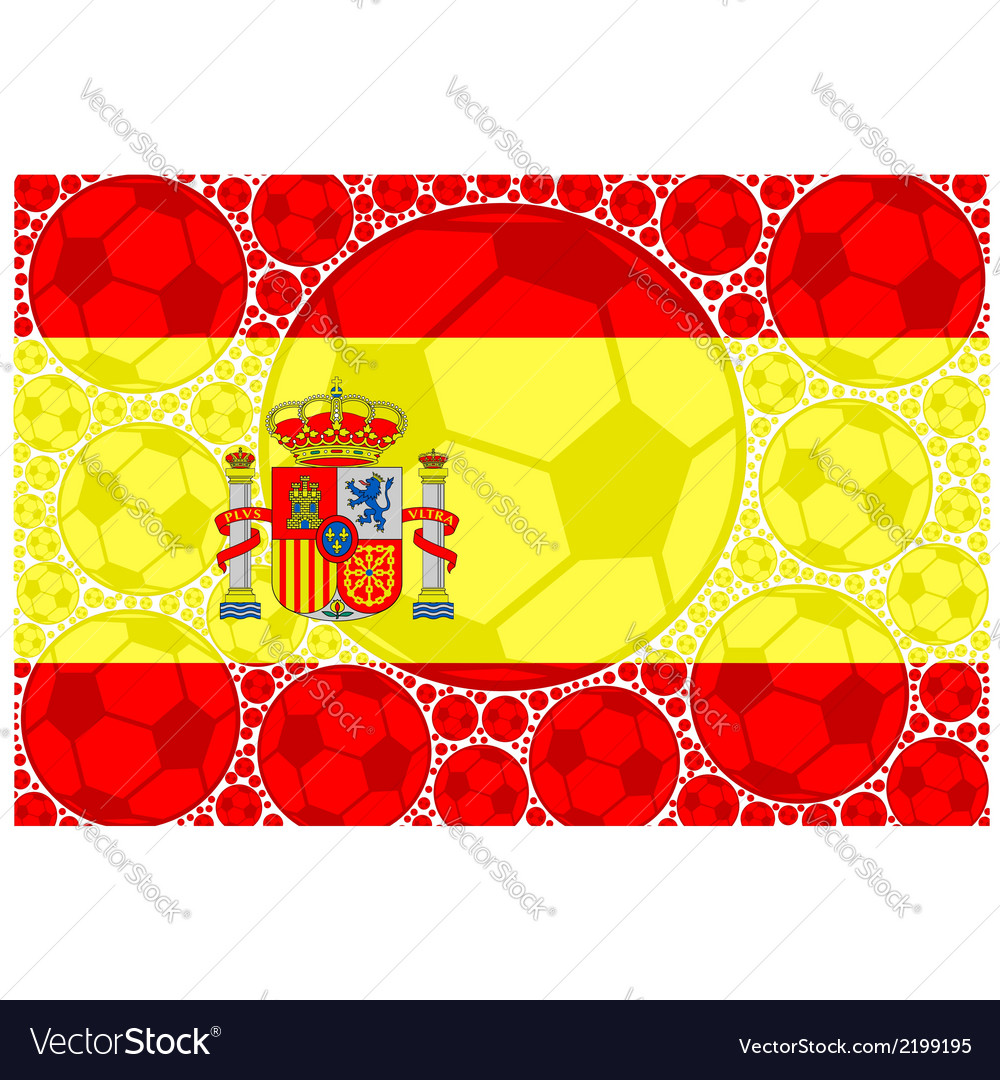 Spain soccer balls vector | Price: 1 Credit (USD $1)