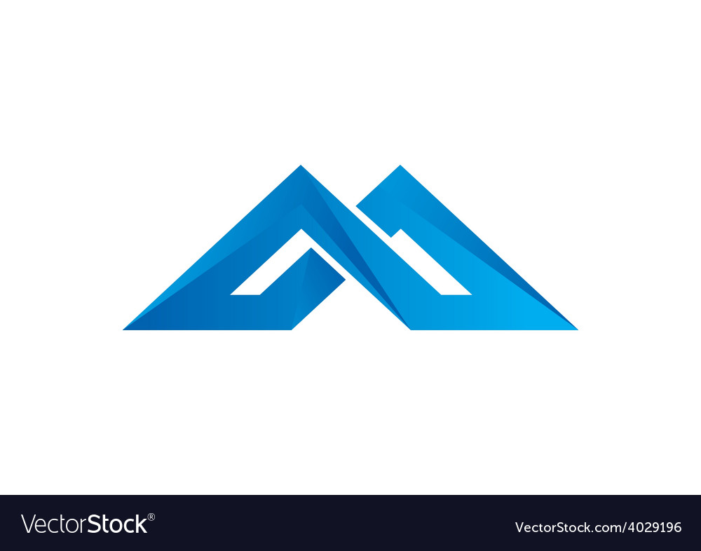 Abstract construction shape logo vector