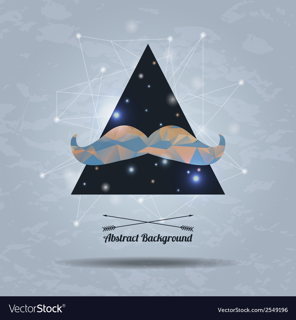 Abstract hipster background with triangle and vector | Price: 1 Credit (USD $1)