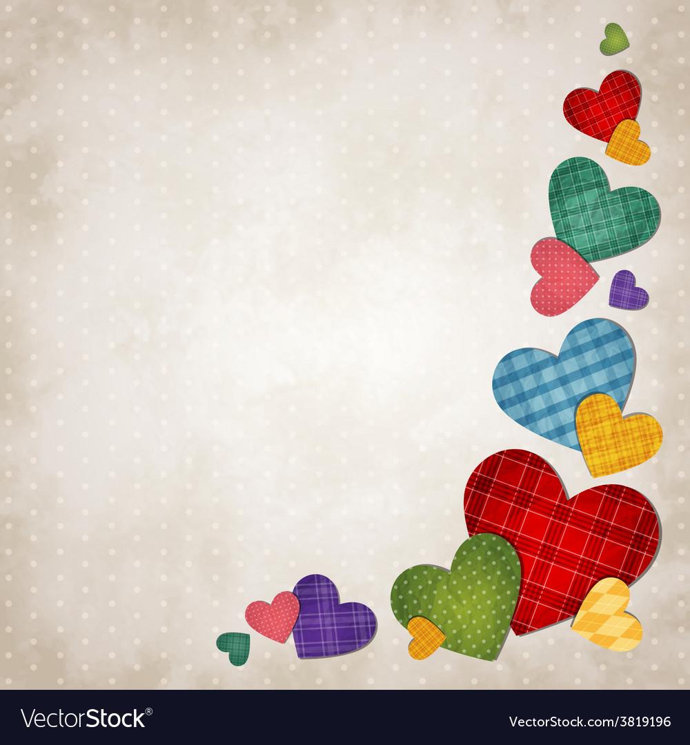 Colored hearts vector | Price: 1 Credit (USD $1)
