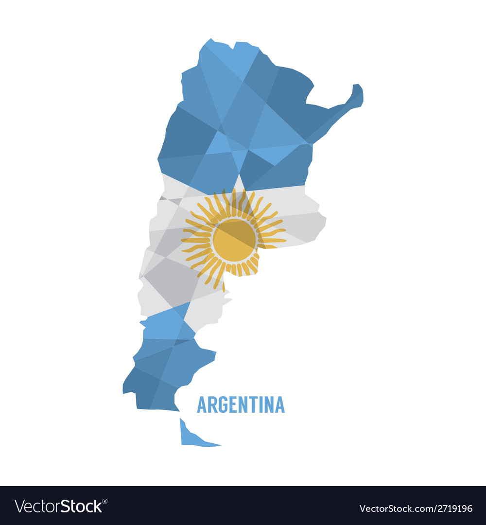Map of argentina vector | Price: 1 Credit (USD $1)