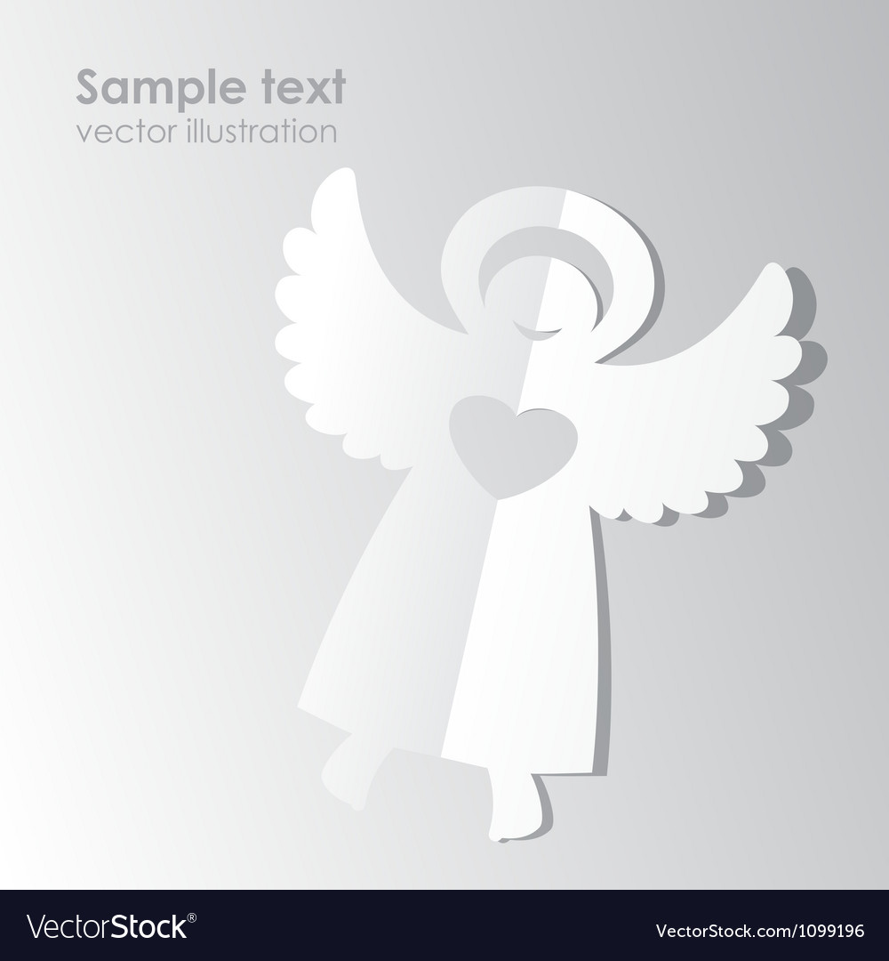 Paper angel template vector | Price: 1 Credit (USD $1)