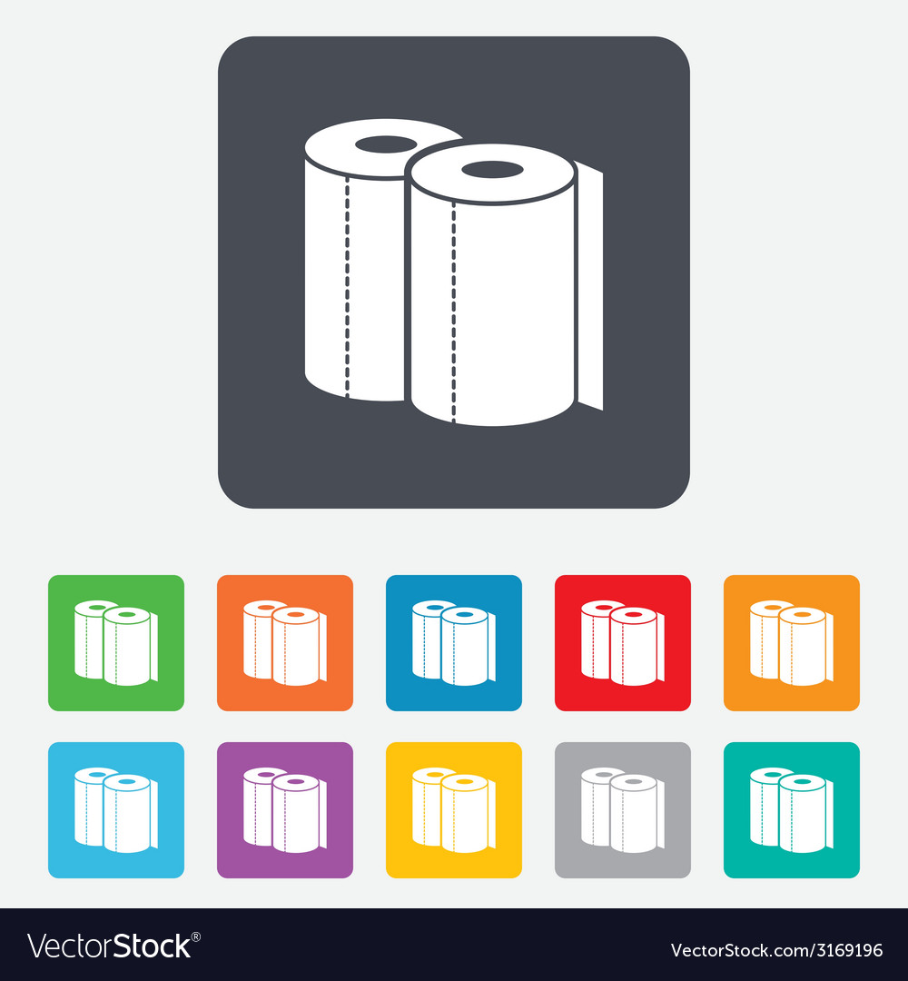 Paper towels sign icon kitchen roll symbol vector | Price: 1 Credit (USD $1)