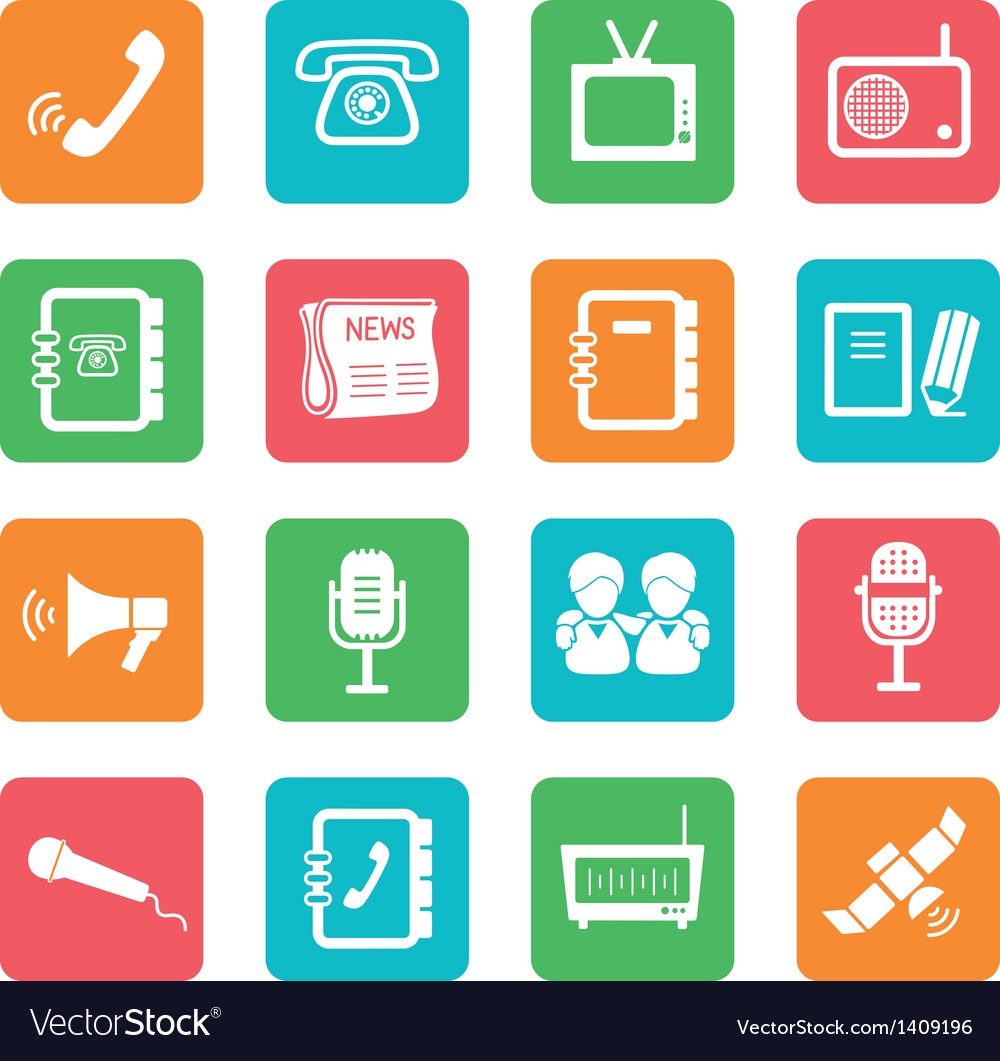 Set of communication icons vector   Price: 1 Credit (USD $1)