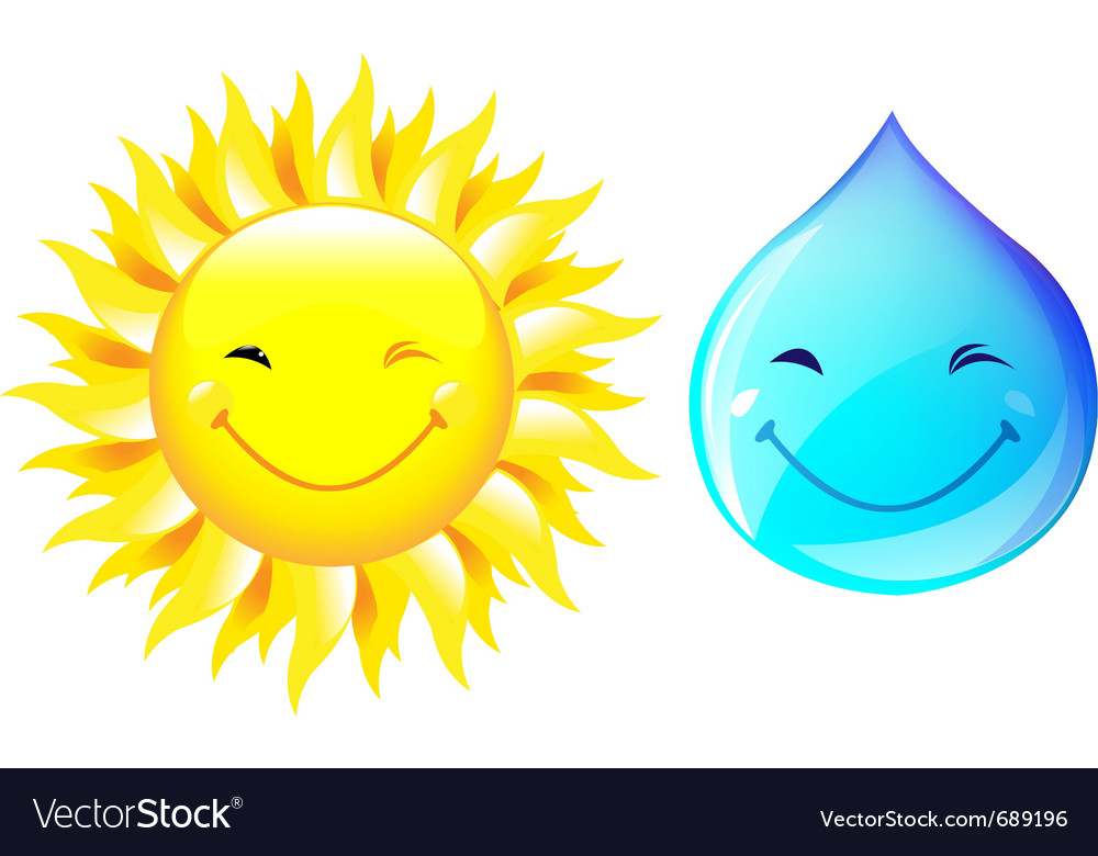Smiling drop of water vector | Price: 1 Credit (USD $1)