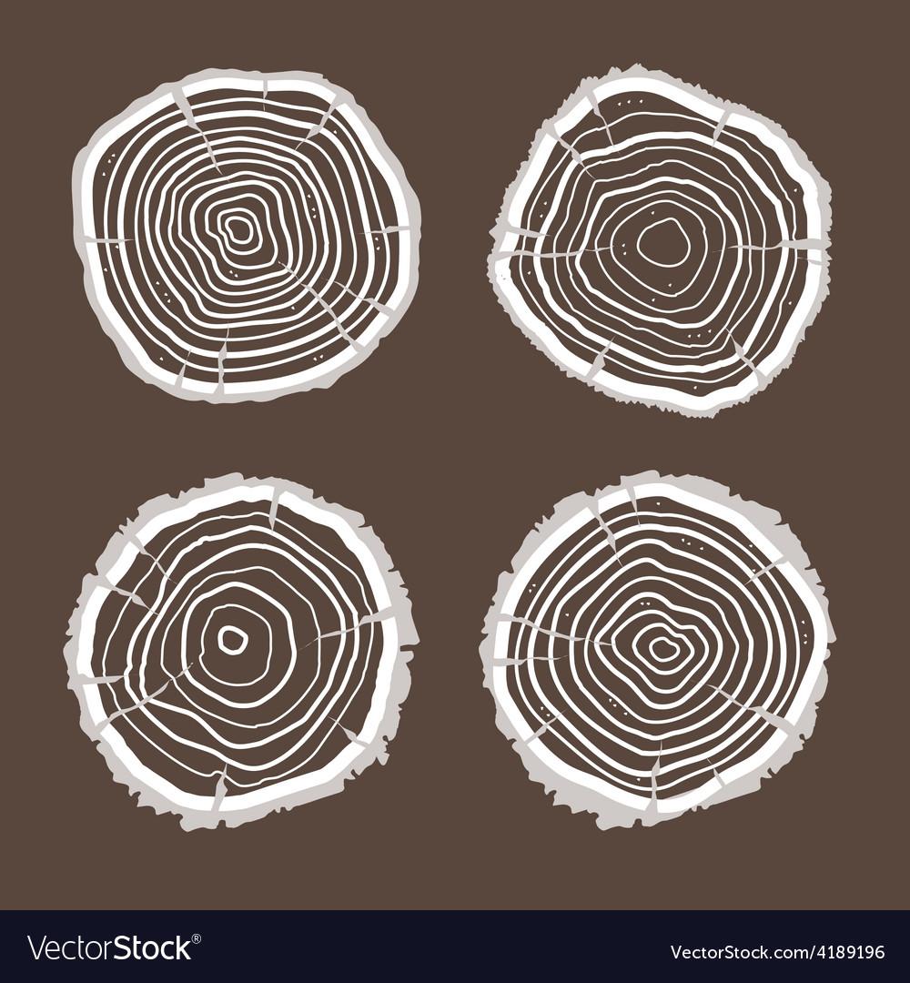 Tree rings set flat design vector   Price: 1 Credit (USD $1)
