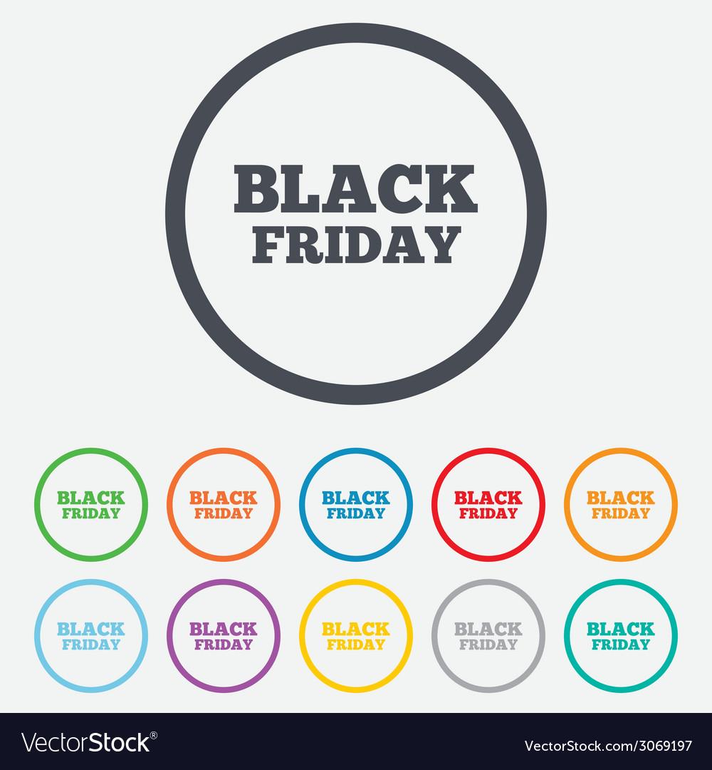 Black friday sign icon sale symbol vector | Price: 1 Credit (USD $1)