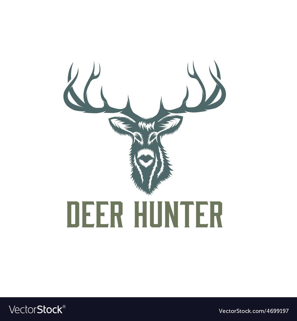 Deer hunter design template vector | Price: 1 Credit (USD $1)