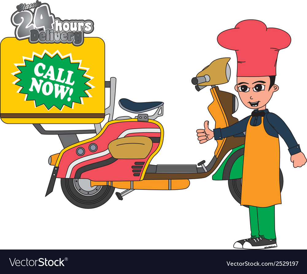 Delivery pizza vector | Price: 1 Credit (USD $1)