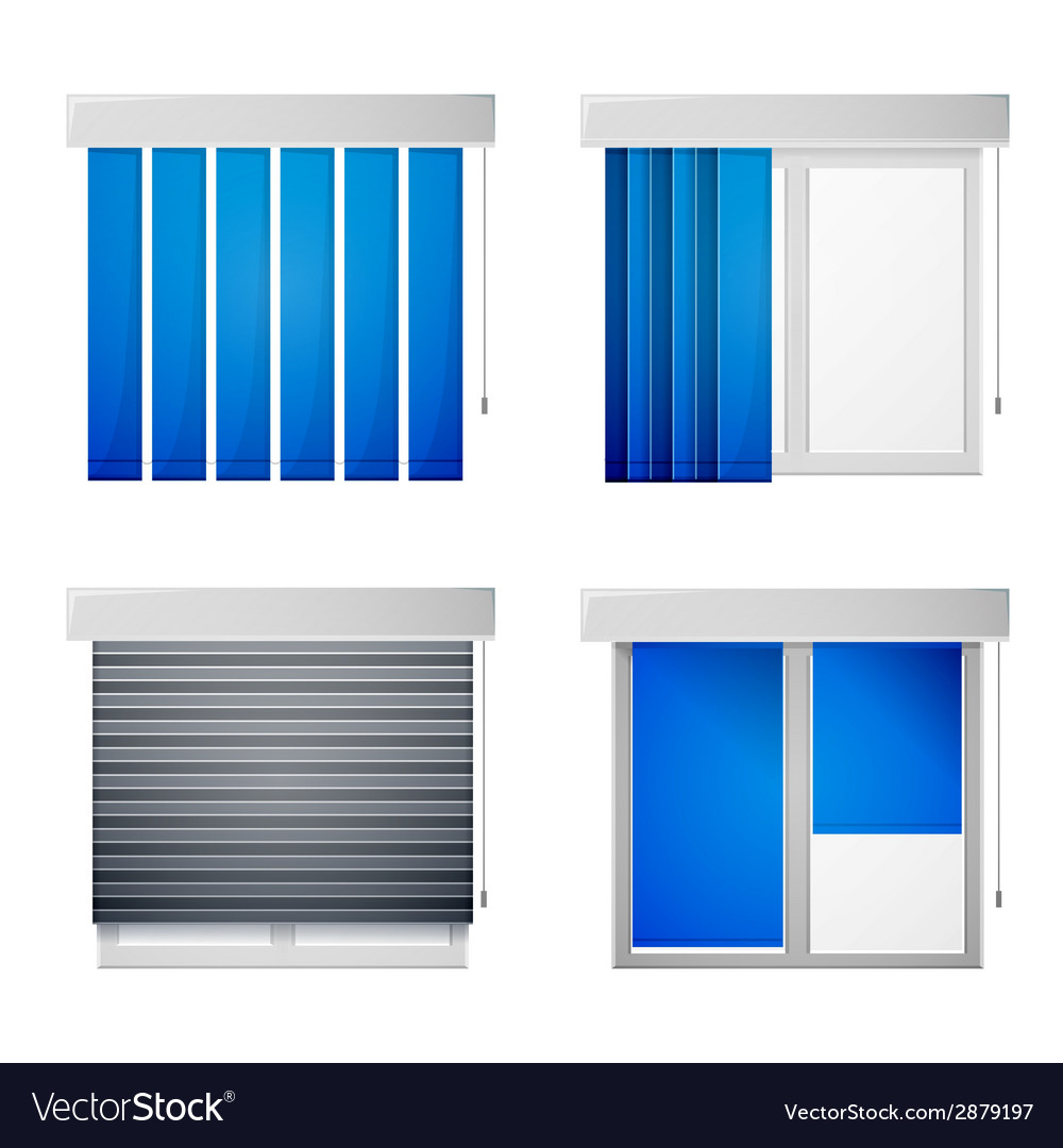 Icons for window louvers vector | Price: 1 Credit (USD $1)