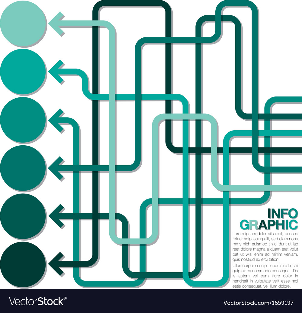 Infographics with arrows vector | Price: 1 Credit (USD $1)