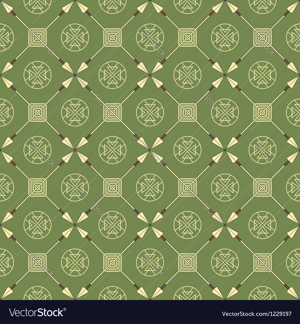 Seamless pattern with arrows and symbols vector | Price: 1 Credit (USD $1)