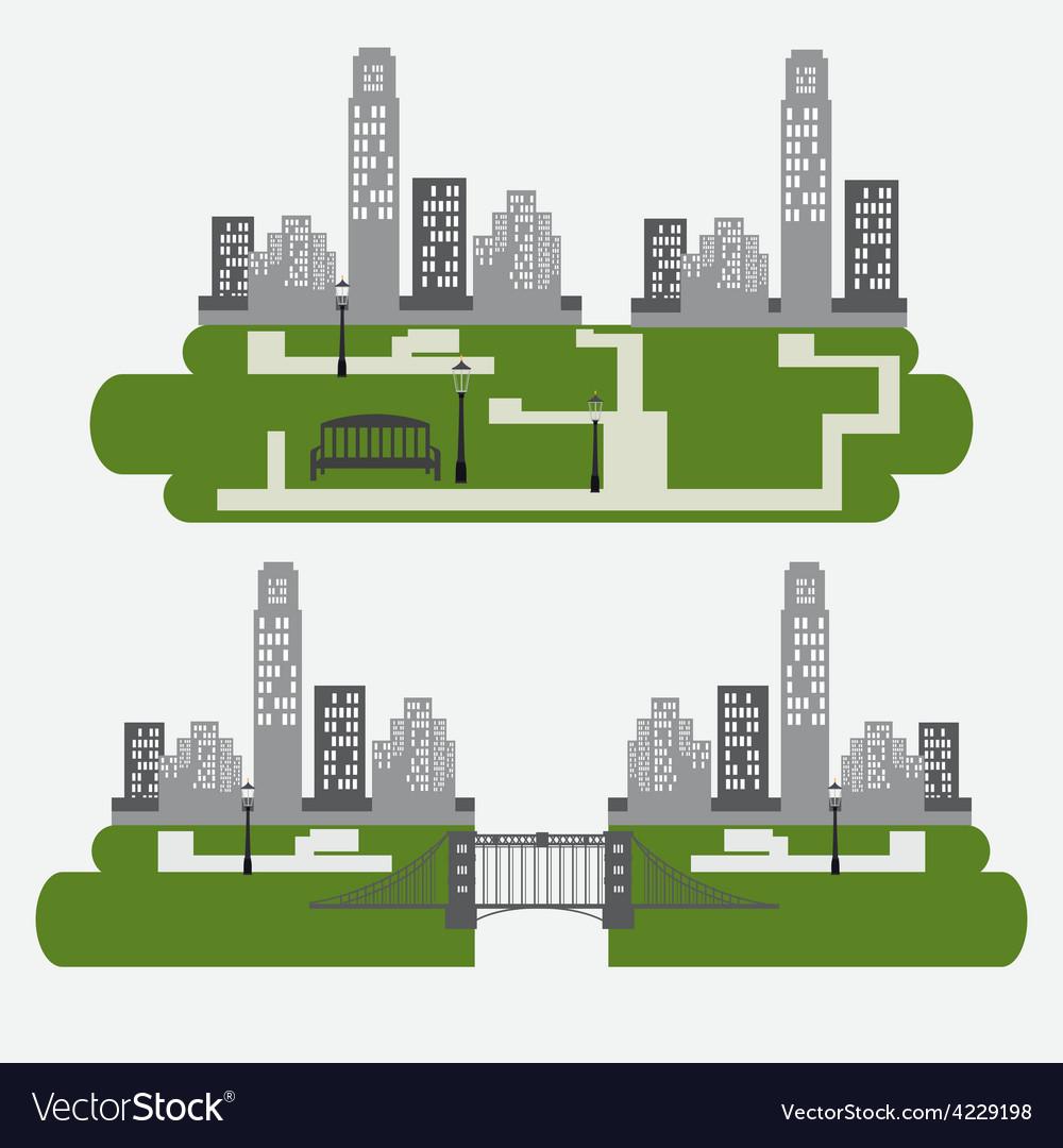 City design vector | Price: 1 Credit (USD $1)