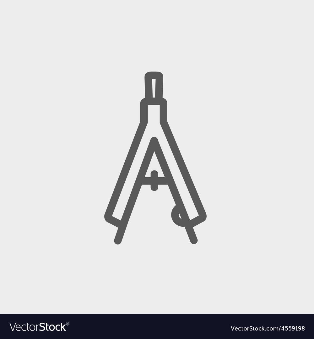 Compasses thin line icon vector | Price: 1 Credit (USD $1)
