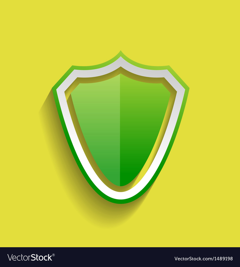 Protection shield flat icon vector | Price: 1 Credit (USD $1)